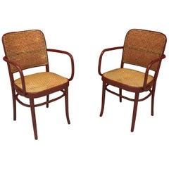 Joseph Frank , Pair of Thonet Style Armchairs, circa 1950
