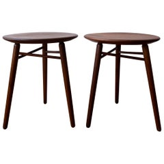 Pair of Three Leg Stools or Side Tables by Kipp Stewart and Stewart MacDougall