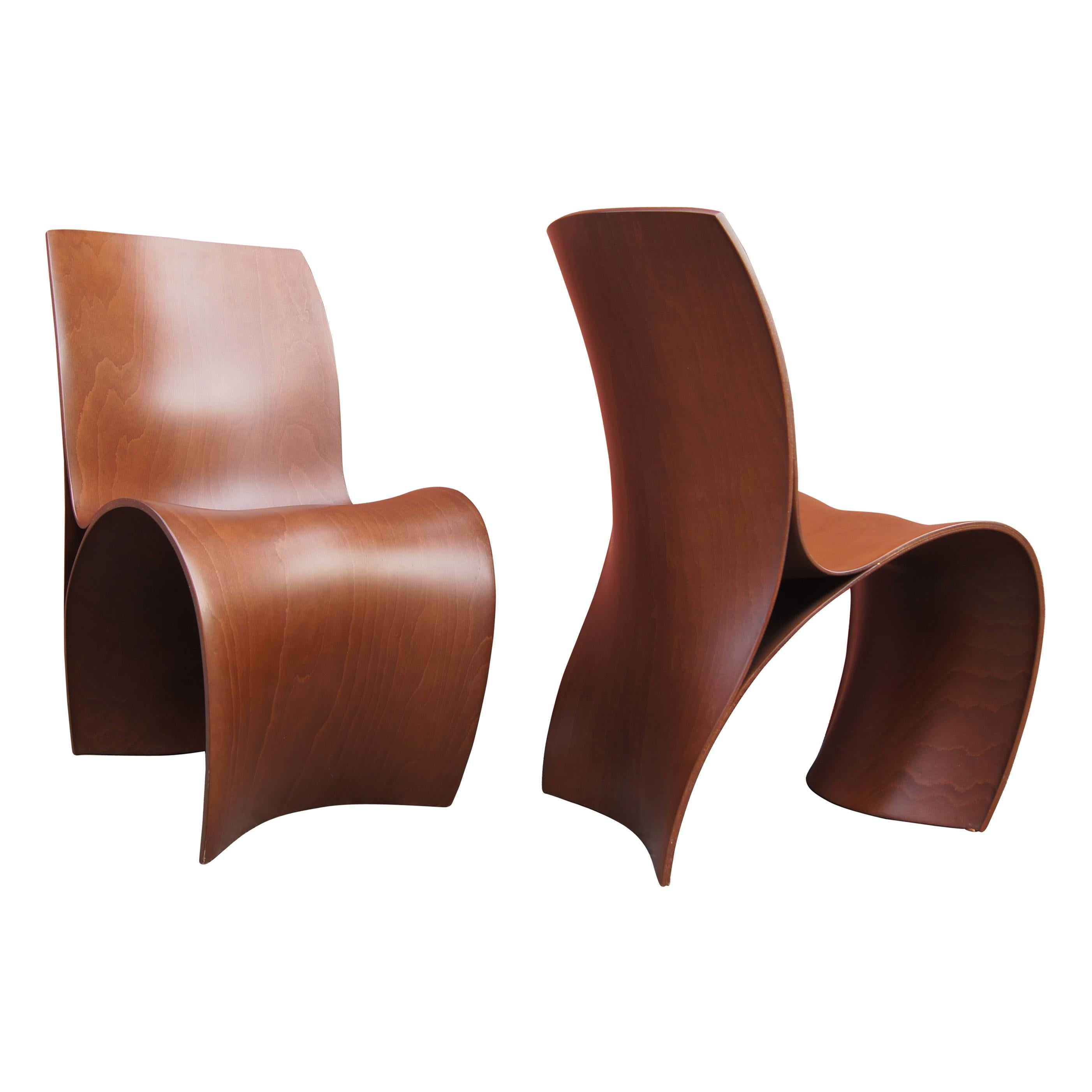 Pair of Three Skin Chairs by Ron Arad for Moroso