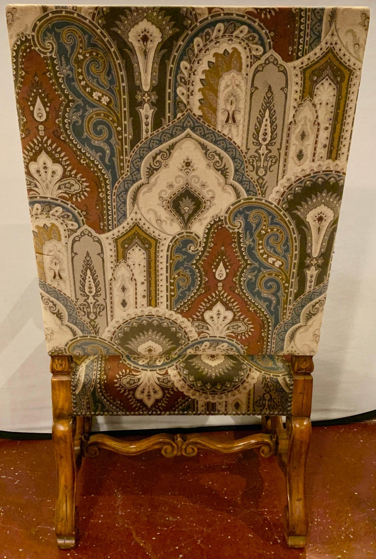 Pair of Throne Armchairs with a Versace Style Cut and Printed Velvet Fabric For Sale 11