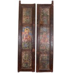 Pair Of Tibetan Painted Doors