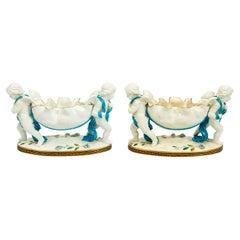 Pair of Tiffany and Company Double Cherub Bowls, 19th Century