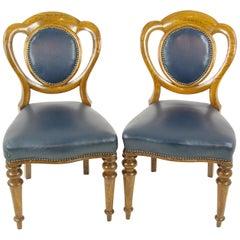 Paar Tiger Eiche Bürostühle, Schreibtisch-Stühle, Schottland, B1320