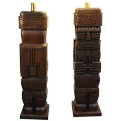 Pair of Tiki Lamps