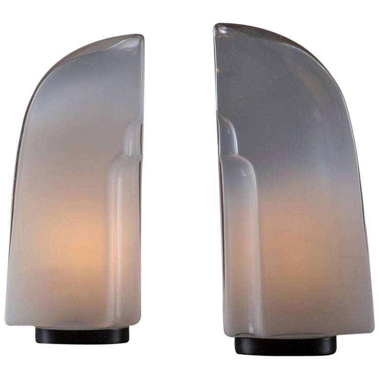 """Pair of """"Tiki"""" Table Lamps by Kazuhide Takahama for Leucos For Sale"""