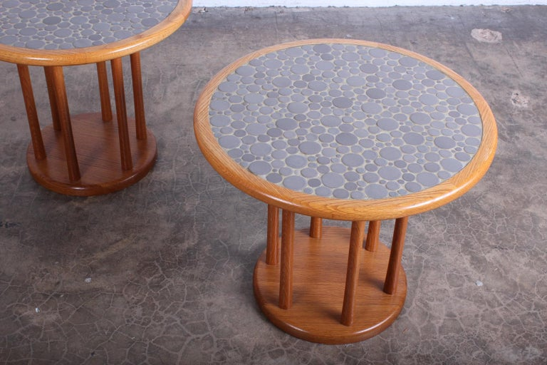 Pair of Tile Tables by Gordon Martz For Sale 8