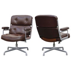 Pair of Time Life Lounge Chairs by Charles Eames for Herman Miller, 1977, Signed