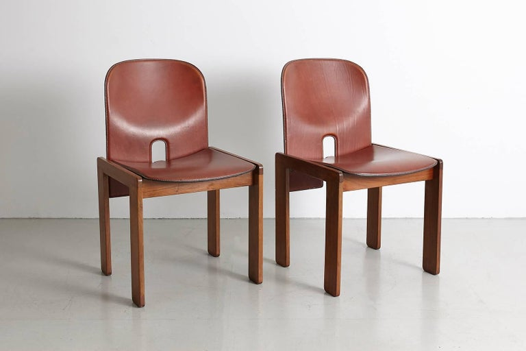 Pair of Tobia Scarpa Dining Chairs For Sale 4