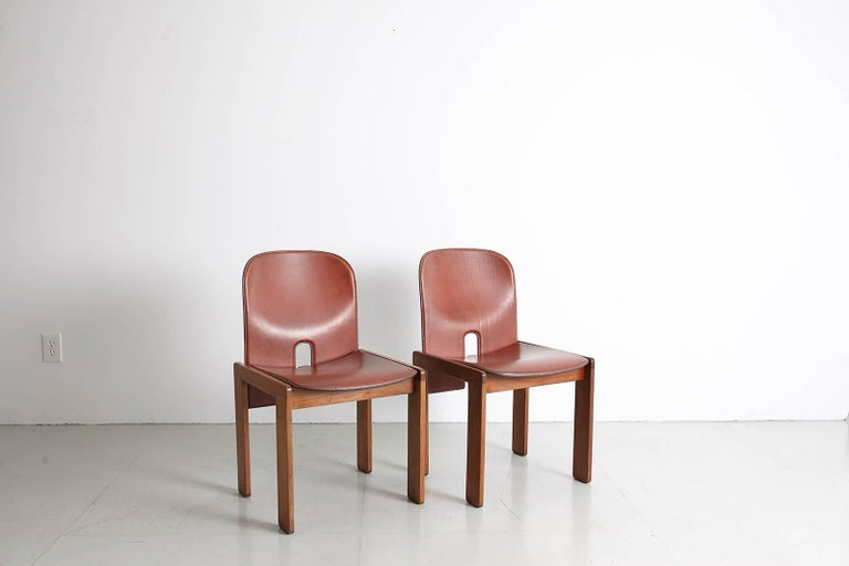 Pair of Tobia Scarpa Dining Chairs For Sale 5