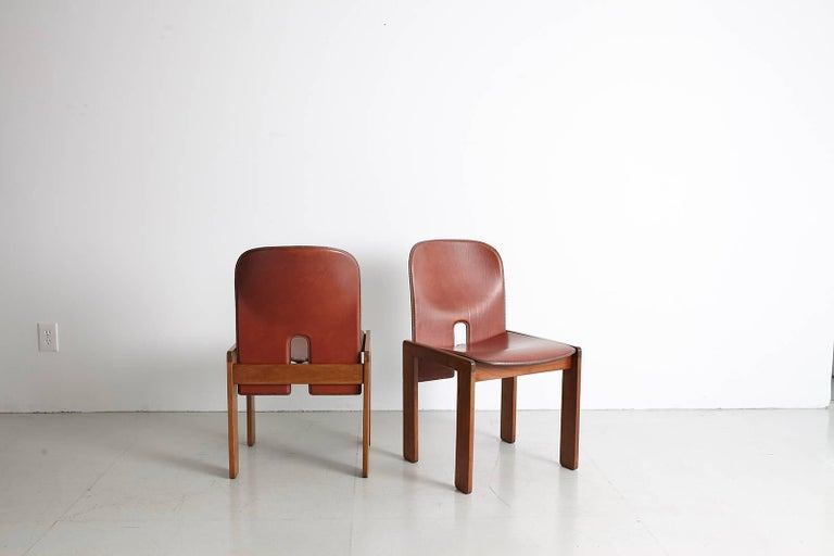 Pair of Tobia Scarpa Dining Chairs For Sale 6