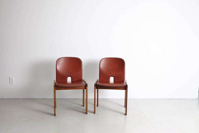 Pair of Tobia Scarpa Dining Chairs For Sale 7