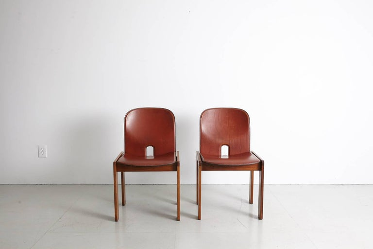 Pair of Tobia Scarpa Dining Chairs For Sale 3