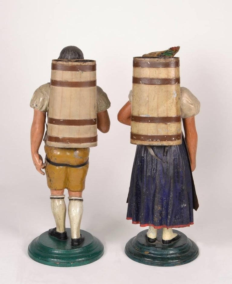 Pair of Tole Figures, circa 1820-1840 For Sale 3