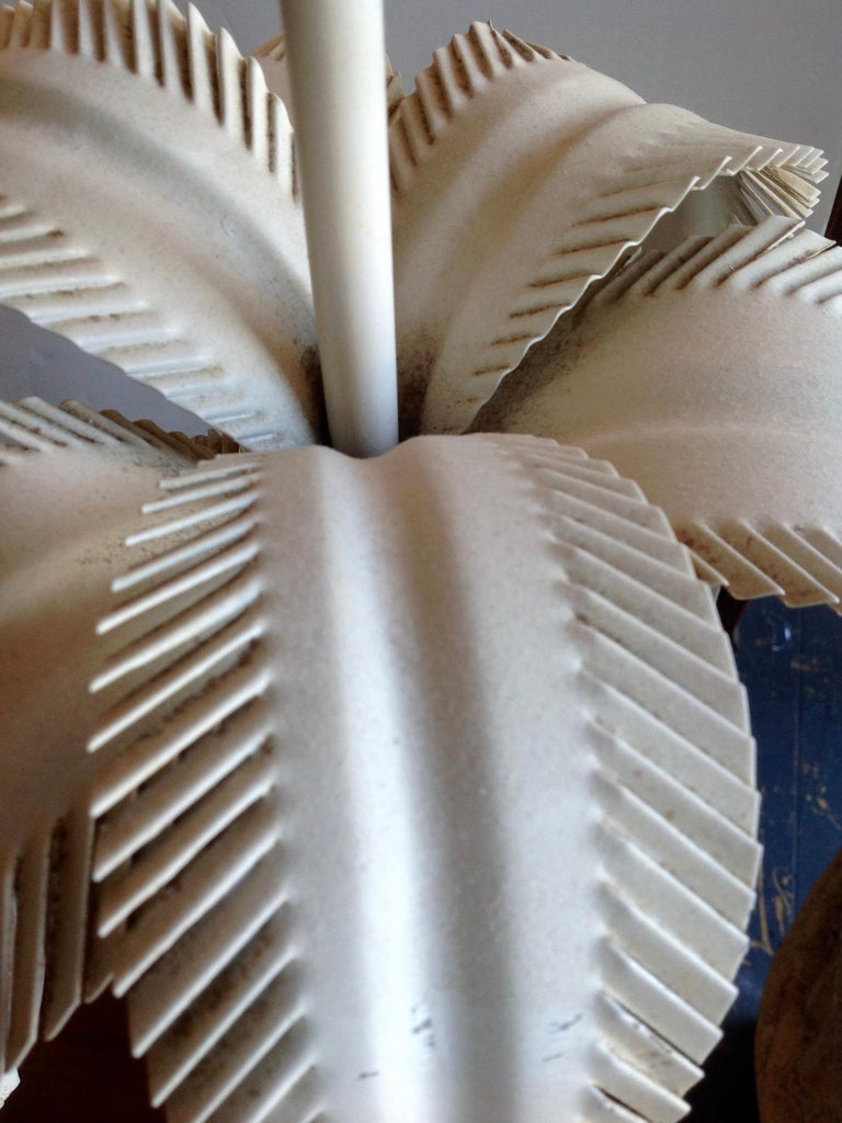 Pair of Tole Palm Tree Lamps For Sale 3