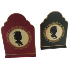Pair of Tole Silhouettes Bookends
