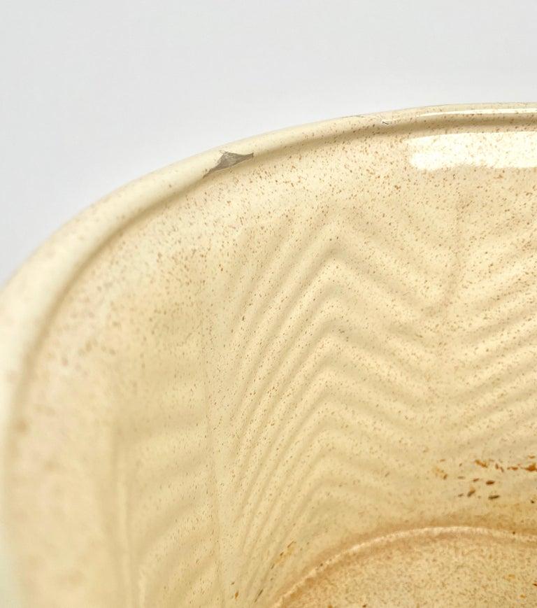 Pair of Tommaso Barbi Beige Ceramic Vase, Italy, 1970s For Sale 9