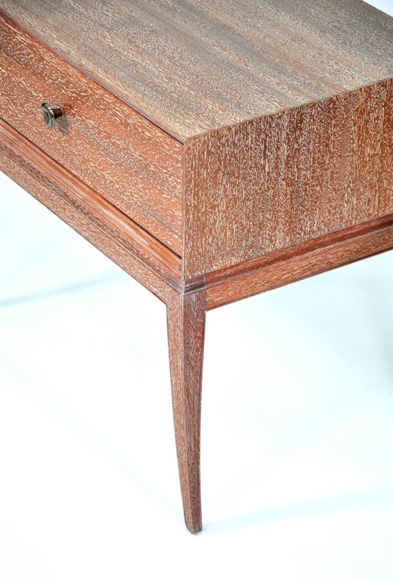 Pair of Tommi Parzinger Cerused Nightstands or Side Tables For Sale 1
