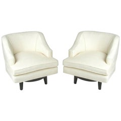 Pair of Tommi Parzinger Swivel Chairs for Charak Modern