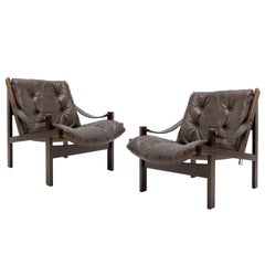 Pair of Torbjørn Afdal Easy Chairs, 1960s