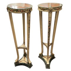 Pair of Torchère or Pedestals Painted, George III, circa 1800