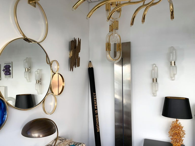 Pair of Torpedo Sconces by Carlo Nason for Mazzega Murano, Italy, 1970s For Sale 4