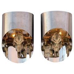 "Pair of ""Totem"" Sconces Attributed to Maria Pergay"