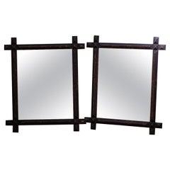 Pair of Tramp Art Mirrors