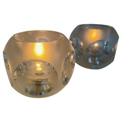 Pair of Transparant Table Lamps