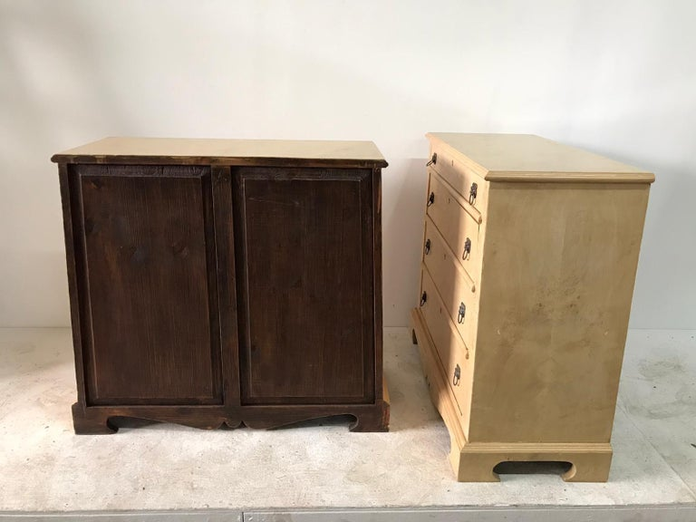 Pair of Trapezoid Cabinets by Quigley For Sale 8