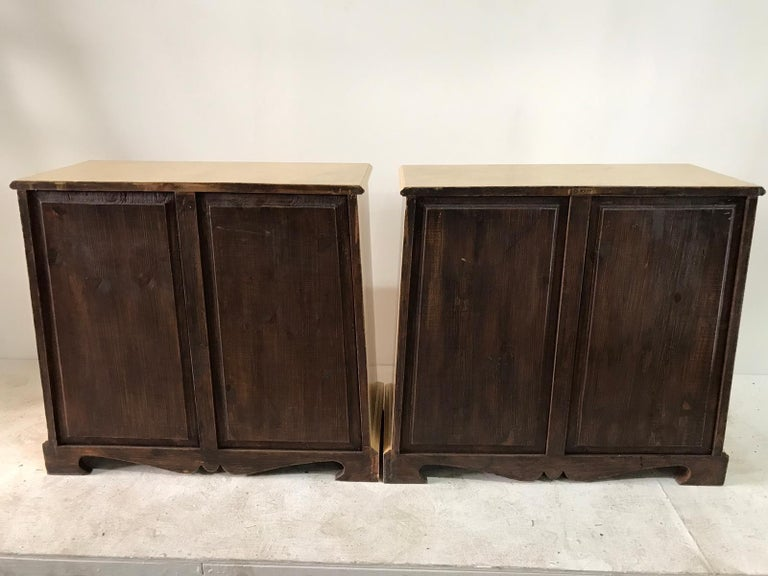 Pair of Trapezoid Cabinets by Quigley For Sale 9