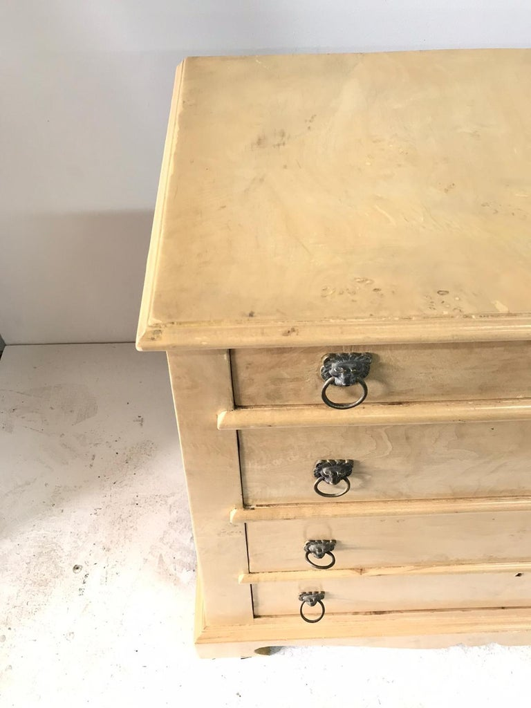 Bleached Pair of Trapezoid Cabinets by Quigley For Sale