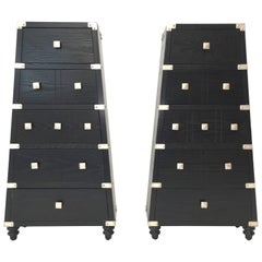 Pair of Trapezoidal Lingerie Chests