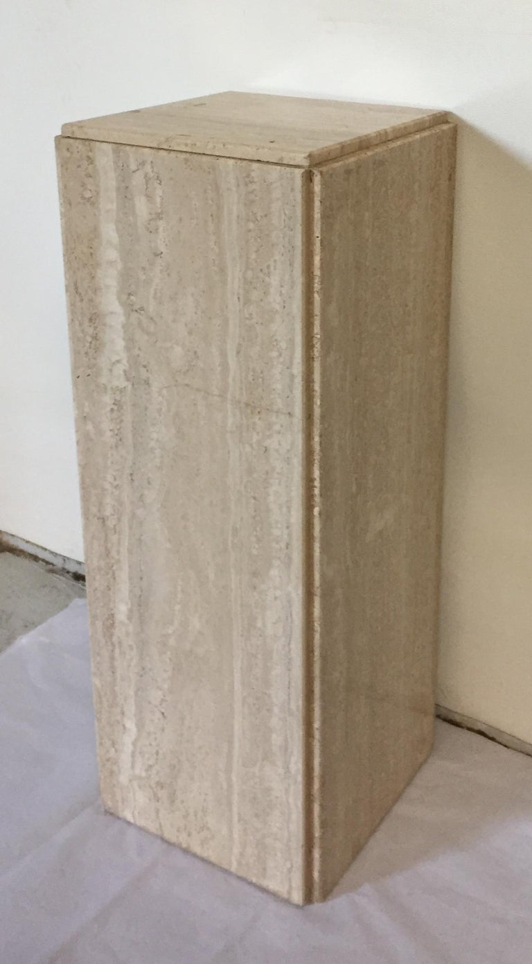 French Pair of Travertine Pedestals For Sale