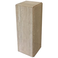 Pair of Travertine Pedestals
