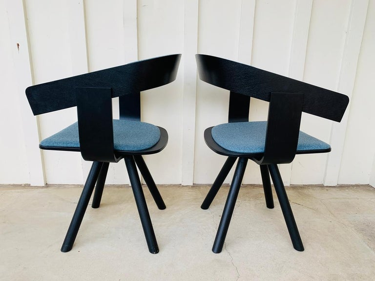 Pair of Trestle Base Chairs by Alain Gilles Buzzi Space-Buzzi Float For Sale 5