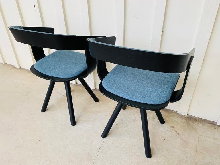 Pair of Trestle Base Chairs by Alain Gilles Buzzi Space-Buzzi Float For Sale 6
