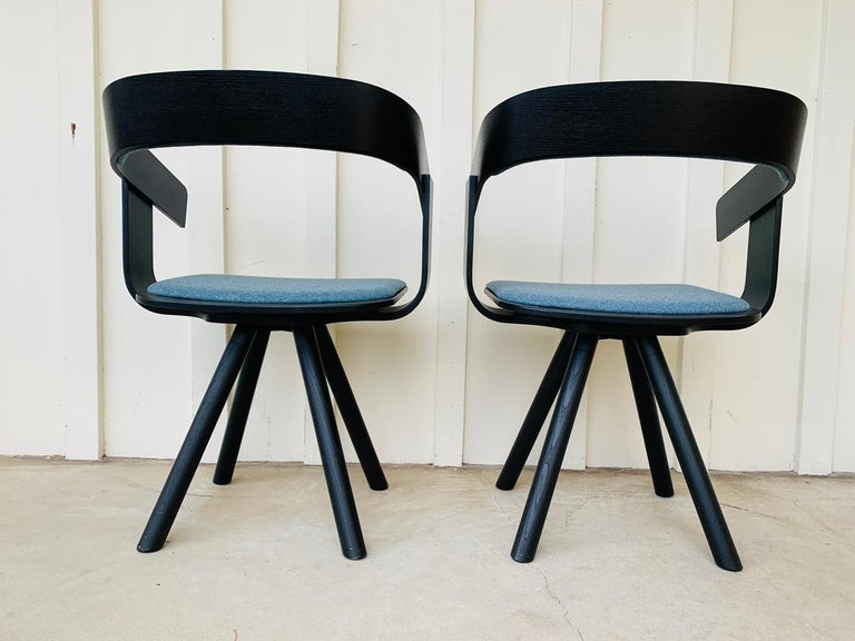 Pair of Trestle Base Chairs by Alain Gilles Buzzi Space-Buzzi Float For Sale 7
