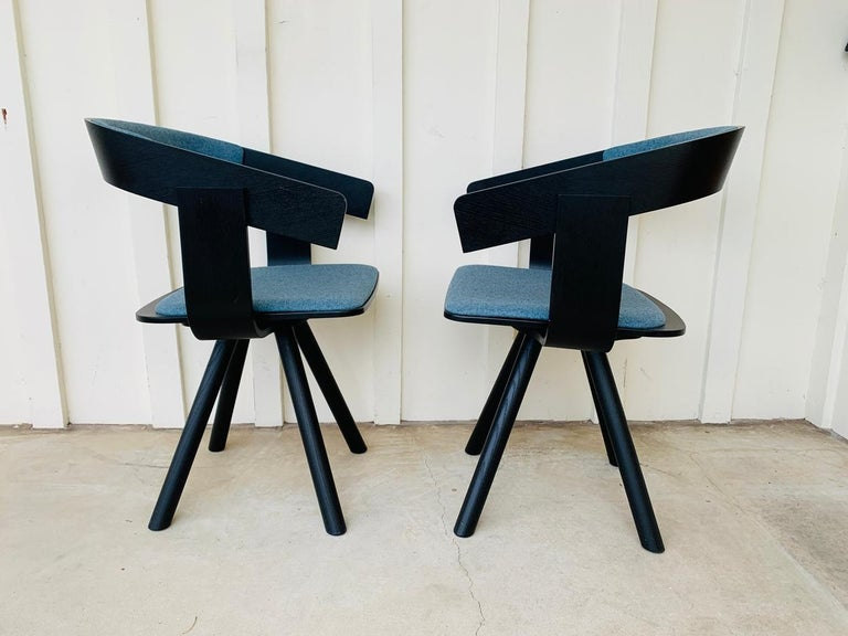 Pair of Trestle Base Chairs by Alain Gilles Buzzi Space-Buzzi Float For Sale 8