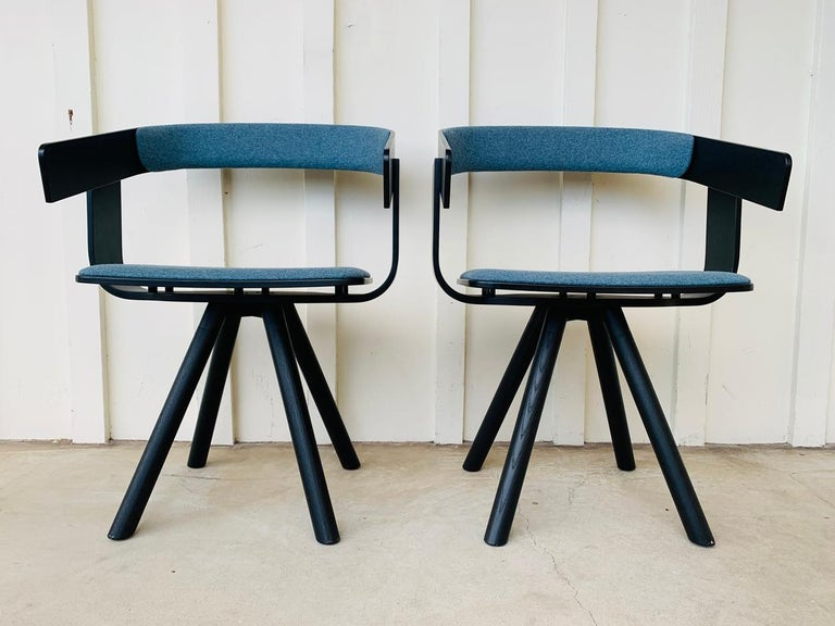 Pair of Trestle Base Chairs by Alain Gilles Buzzi Space-Buzzi Float For Sale 13