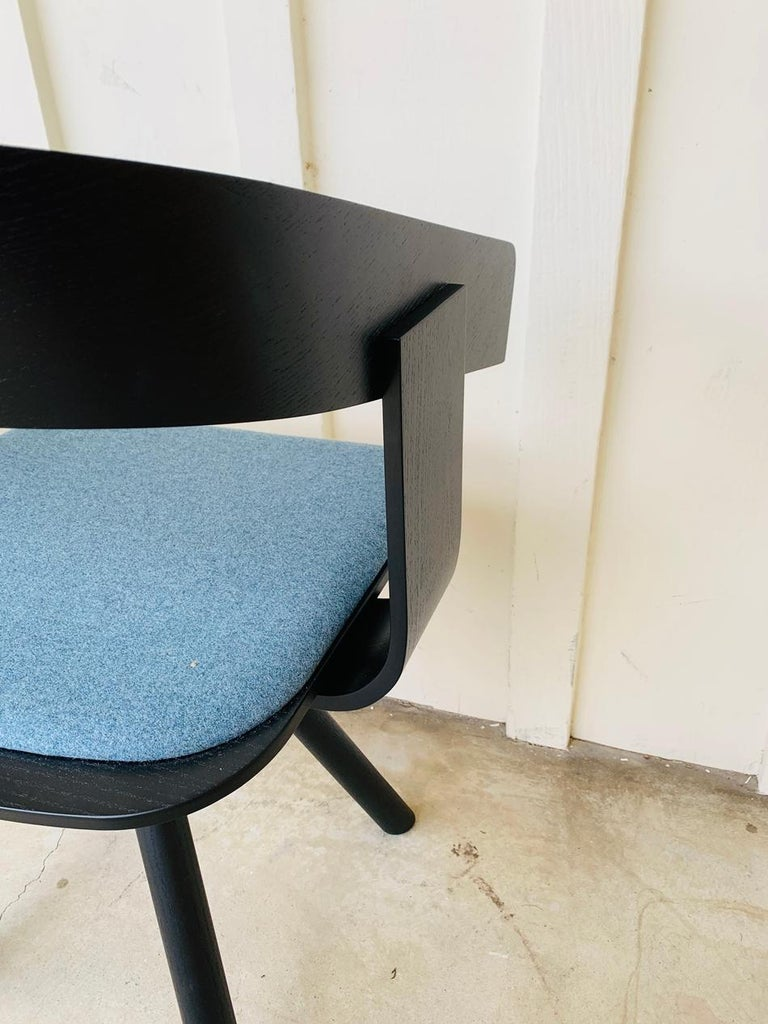 Pair of Trestle Base Chairs by Alain Gilles Buzzi Space-Buzzi Float In Good Condition For Sale In Los Angeles, CA