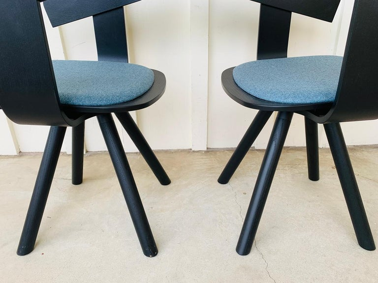 Pair of Trestle Base Chairs by Alain Gilles Buzzi Space-Buzzi Float For Sale 1