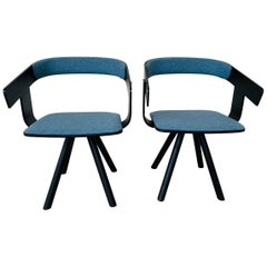 Pair of Trestle Base Chairs by Alain Gilles Buzzi Space-Buzzi Float