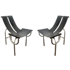 Pair of TRI 15 Chairs by Roberto Gabetti & AImaro Isola for Arbo, Italy, 1968