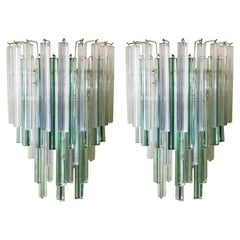 Pair of Triedri Sconces by Venini