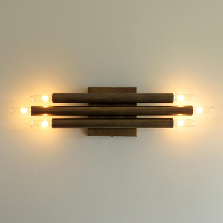 Brass Pair of 'Trinus' Wall Lights by Gallery L7 For Sale