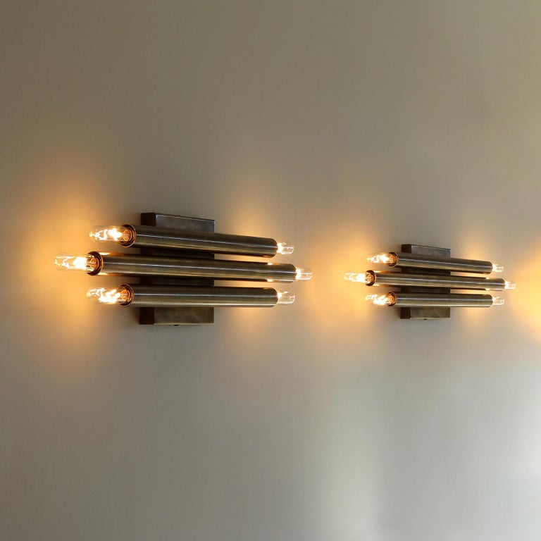 Pair of 'Trinus' Wall Lights by Gallery L7 For Sale 1