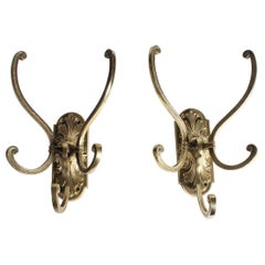 Pair of Triple Hat and Coat Hooks