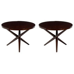 Pair of Tripod End Tables by T. H. Robsjohn-Gibbings for Widdicomb