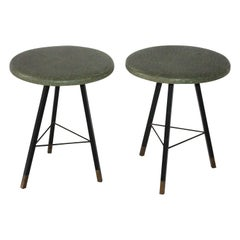 Pair of Tripod Stools 1950s Italian Design