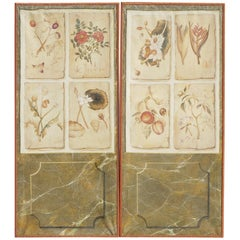 Pair of Trompe l'oeil Painted Panels from the Estate of Bunny Mellon